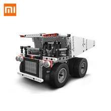 2018 New Original Xiaomi Mitu Bloc Robot Mine Camion Pour Enfants Commande Au Volant Dump Ascenseur Intelligent Télécommande(China)