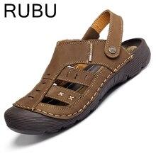 Anticollision Genuine Leather Sandals Men Shoes 2017 Summer Gladiator Men's Sandals Casual Beach Shoes /03