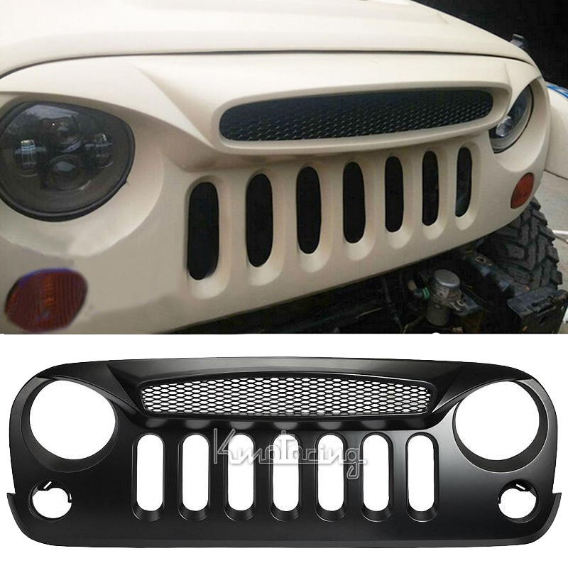 Great Auto Car Accessories Matt Black Front Grille Ghost ABS For Jeep Wrangler  2007 2008 2009 2010 2011 2012 2013 2014 2015 In Racing Grills From  Automobiles ...