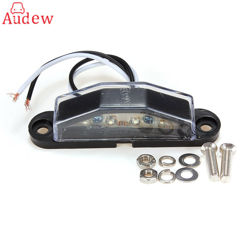 1Pcs Car LED License Number Plate Light Lamp  4LED White Light E-Mark Lamp For Truck Trailer Caravan