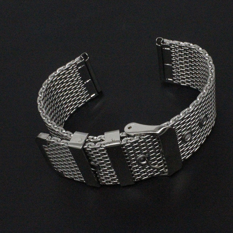 Watch band 18mm 20mm 22mm 24mm silver Stainless Steel SHARK mesh bracelet Diving Watch new wristband accessories classic clasp цена и фото