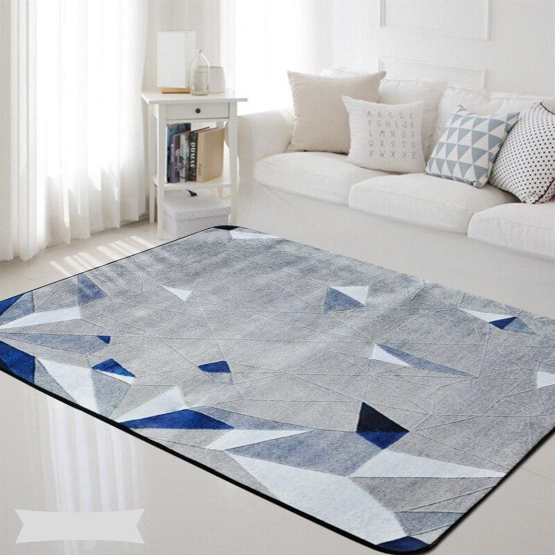 Style scandinave flanelle tapis pour salon couloir tapis enfant bébé ramper Pad tapis de sol nordique décoration de la maison