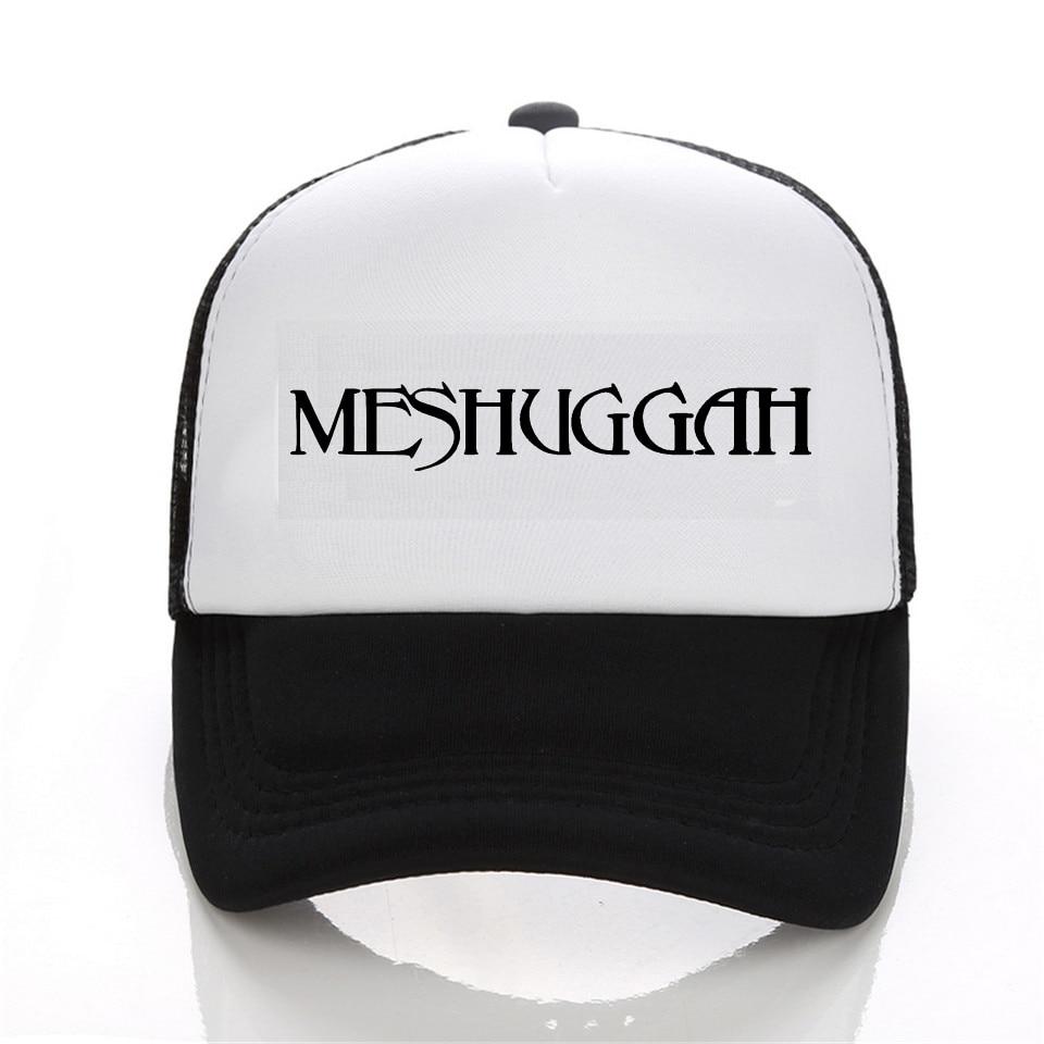 Meshuggah Men's Chaosphere baseball Cap Black White Hat Snapback Women Cap