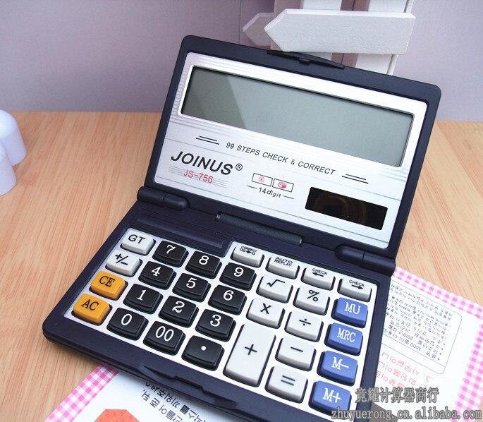 Clamshell 14 digital dual power solar font b calculator b font