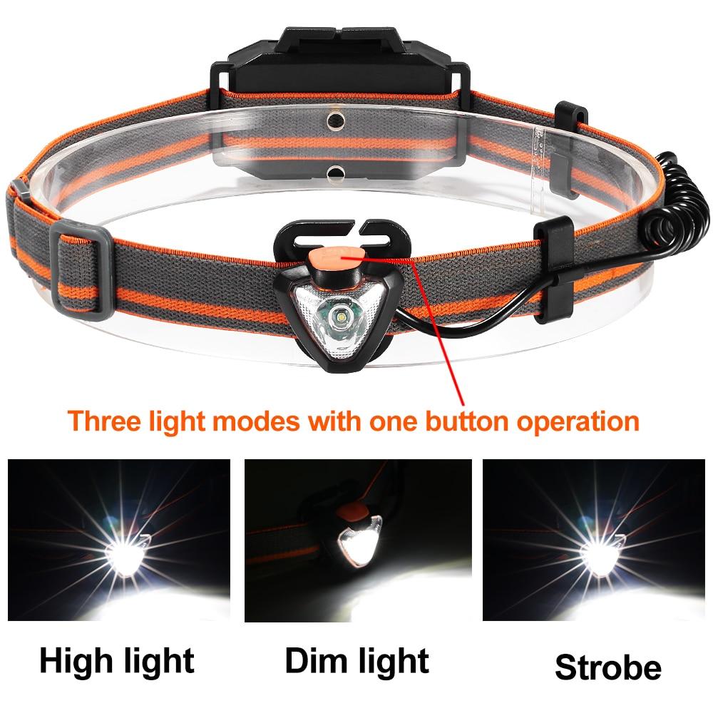 New Headlamp 4 Modes LED Head Lamp Headlight Flashlight 3 * AAA Energy Saving Light for Outdoor Lighting Hiking