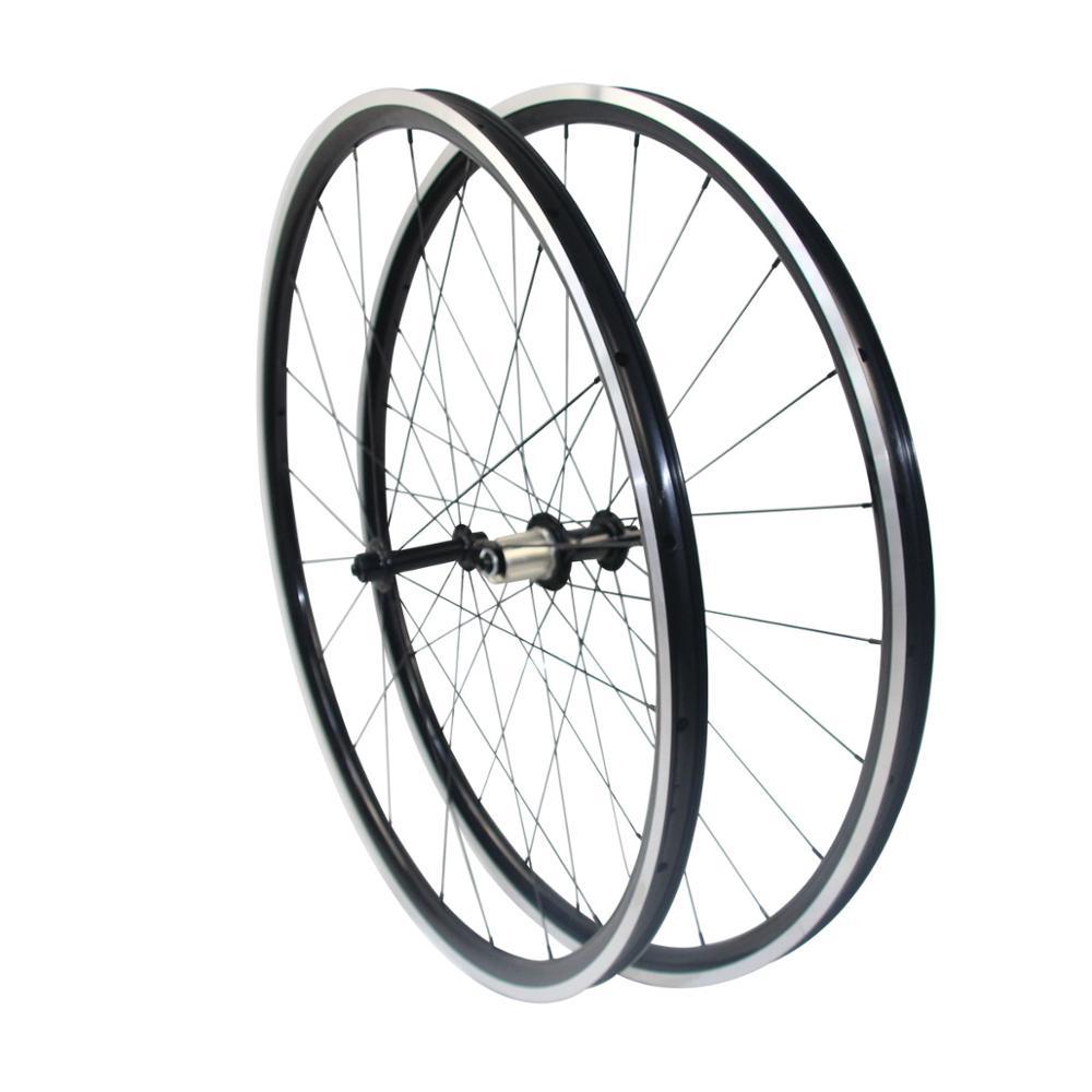 Kinlin XR26T Alloy Wheels 26mm Clincher Road Bicycle Wheel Set With Novatec Hub Ppwerway Hub Pillar/CNC Spokes F-20H R-24H