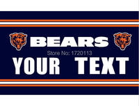 3x5ft  Chicago Bears your text flag 90x150cm polyester banner