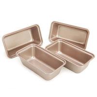 4PC Mini Loaf Pan Non stick French Bread Pan Baking Mold Set Vintage Cake Pans kitchen tools