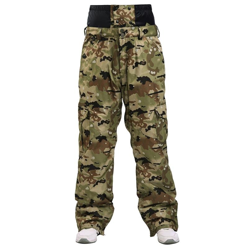 Winter New 2020 Outdoor Veneer Double Board Men's Ski Pants Windproof Waterproof Trousers Camouflage Thick Warm Tactical Trouser