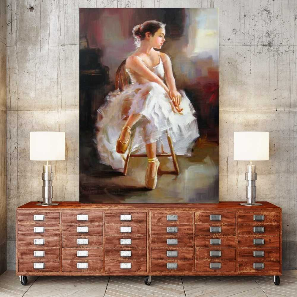 Paint By Numbers Ballet Dance Girl Portrait Wall Art DIY Number Painting Woman Abstract Artwork Wall Decor Coloring by Numbers
