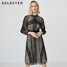 41912J509 vestido cordones Midi