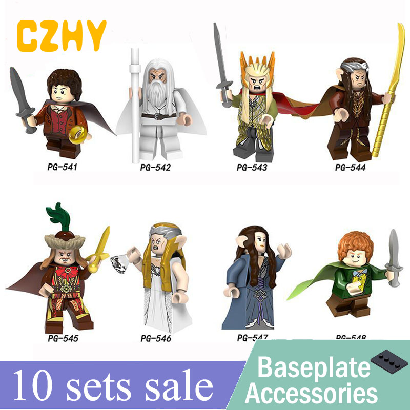 The Lord of the Rings Gandalf Thranduil Elrond Galadriel Merry Arwen Building Blocks Toys for children Figure PG8148-in Blocks from Toys & Hobbies    1