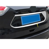 For Nissan X Trail XTrail T32 Rogue 2017 2018 2019 Car Styling Stick Detector Rear License Frame Plate Trim Strip Bumper Hoods