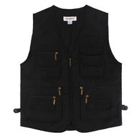 Men Vest Outdoors Sleeveless Jacket Vest With Many Pockets V Neck Waistcoat Travel Coat Fishing Vest Fashion