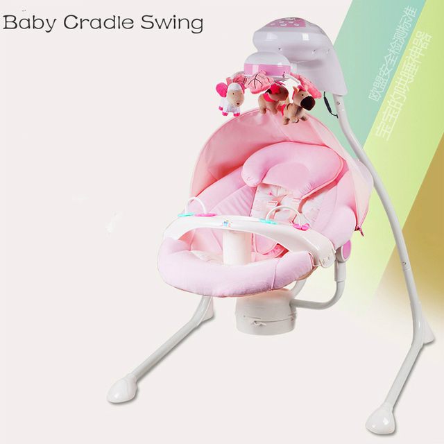 Luxury Baby Cradle Swing Electric Rocking Chair Chaise Lounge Seat Rotating Bouncer