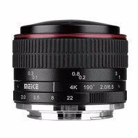 Tüketici Elektroniği'ten Kamera Lensleri'de MEIKE MK 6.5mm F2.0 Balıkgözü Lens Sony E mount Kameralar A6000 A6300 A6500 A7 A7R A7S II