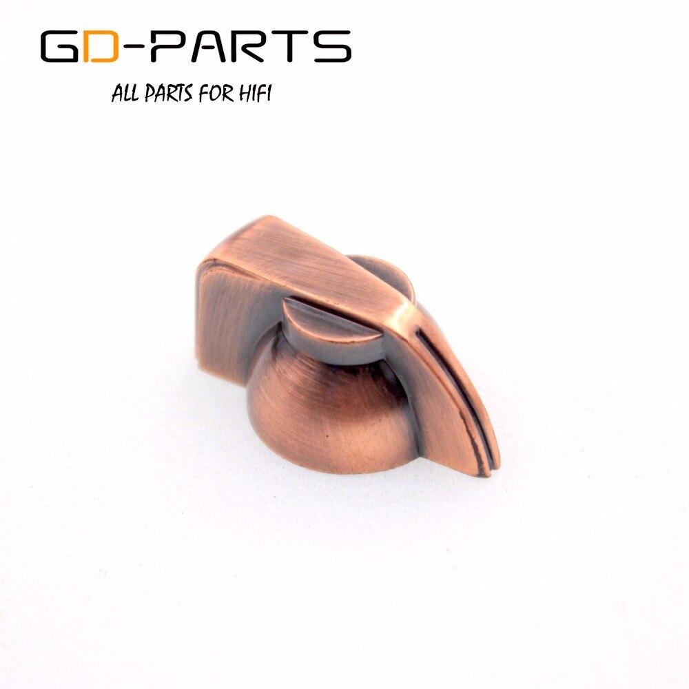 GD-части бронза Цвет Пластик Куриные головы ручки для Гитары Bass AMP Педаль эффектов Stomp Box радио 1/4 6.4 мм латунь вал отверстие