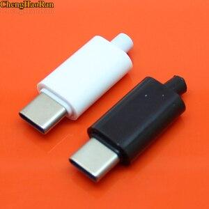 Image 2 - ChengHaoRan 2 комплекта, коннектор с разъемом USB, черно белый, для сварки данных, OTG, линейный интерфейс, DIY, кабель для передачи данных, аксессуары, TYPE C