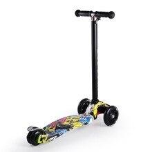 4 регулируемый по высоте алюминий сплав складной 2 PU колеса мини детский скутер поезд баланс координация Горячая