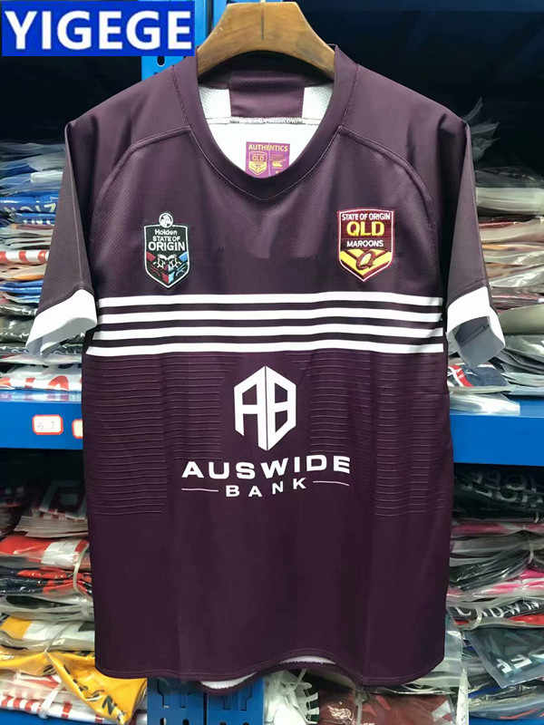 YIGEGE QUEENSLAND MAROONS 2019 JERSEY SMITH SLATER THURSTON NRL Queensland  Maroons Rugby Jerseys Home European Size 97f6ba22e