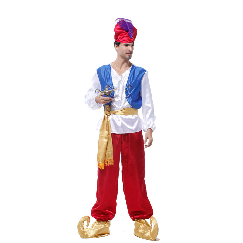 Shanghai Story Aladdin Magic L& Men Prince Costumes Adult Blue Vest Red Pants Classic Prom Aladdin Dress-in Movie u0026 TV costumes from Novelty u0026 Special Use ...  sc 1 st  AliExpress.com & Shanghai Story Aladdin Magic Lamp Men Prince Costumes Adult Blue ...