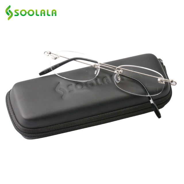 ccd6f44ab9 SOOLALA Lightweight Rimless Ladies Reading Glasses Women Men Magnifying  Eyeglasses +1.0 1.5 2.0 2.5 3.0 3.5 4.0