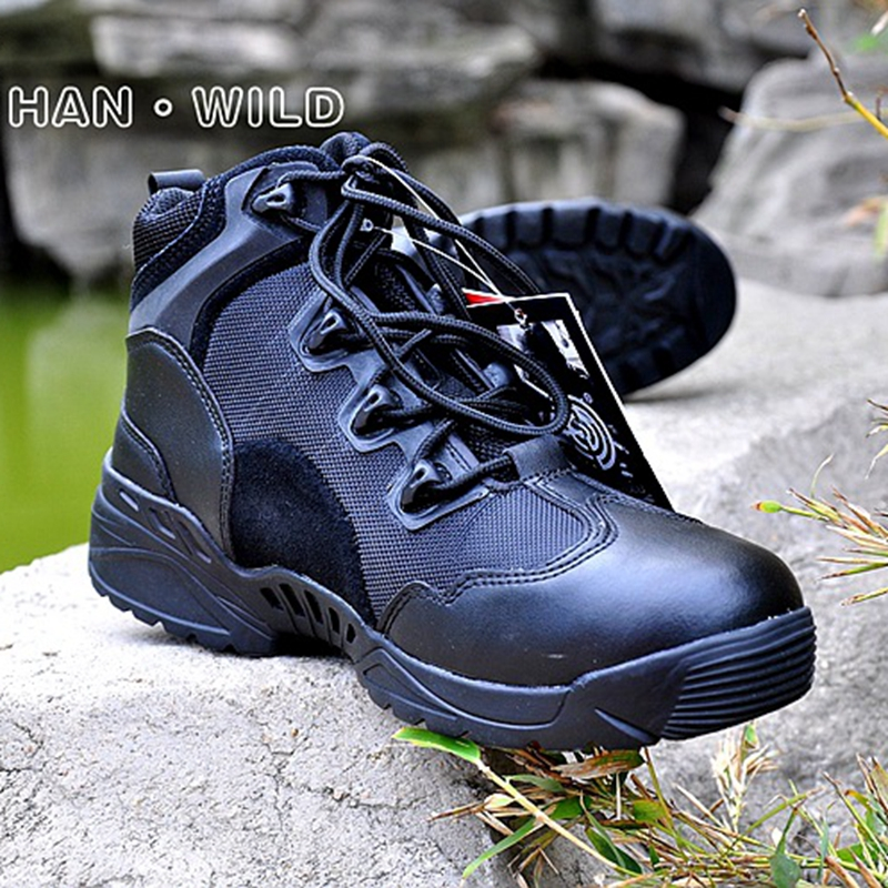 Tactical Boots Combat Desert Boot Mens Army Tactical Boots Military Boots Spring Autumn Climbing Hiking Shoes