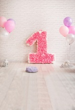 Laeacco Baby 1st Birthday Balloon Interior Scene Photography Backdrops Customized Photographic Backdground For Photo Studio