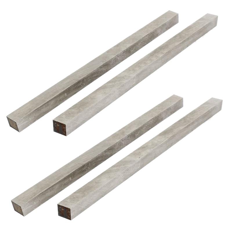 4x High Speed Steel HSS CNC Lathe Cutting Tool Bits Bar 10x10x200mm Silver