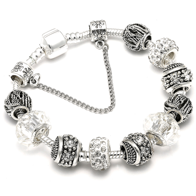 AAA Zircon Charm Bracelet for Women Fit Pandora Bracelet Jewelry DIY Making Accessories Gifts