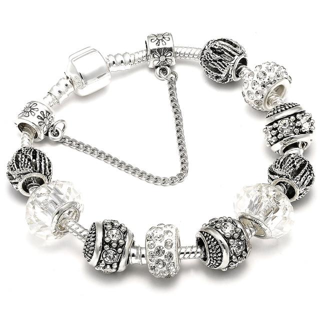 AAA Zircon Charm Bracelet for Women Fit Pandora Bracelet Jewelry DIY Making Accessories Gifts