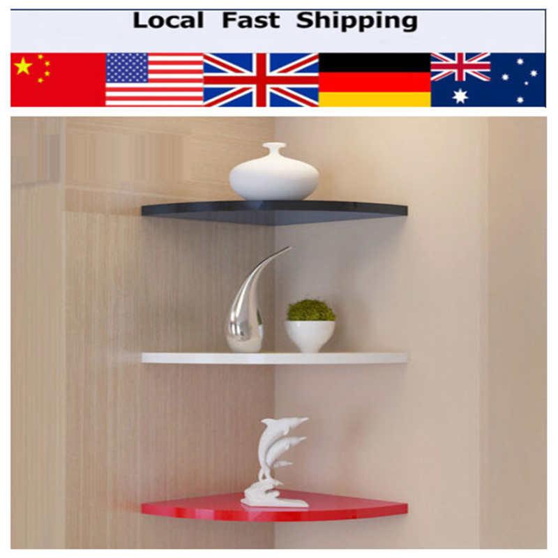 Flotante estantes de la esquina de los clientes compras - Estantes de madera para pared ...