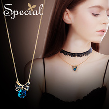 The SPECIAL  Brand euramerican choker necklace, multi-layer lace womens clavicle chain, small butterfly cape ,S1767N
