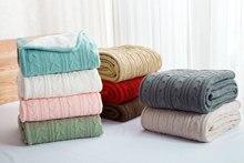 Трикотажные Одеяло покрывало банкет супер мягкий и теплый Одеяло на кровать/диван 100% хлопок 120*180 см Бесплатная доставка
