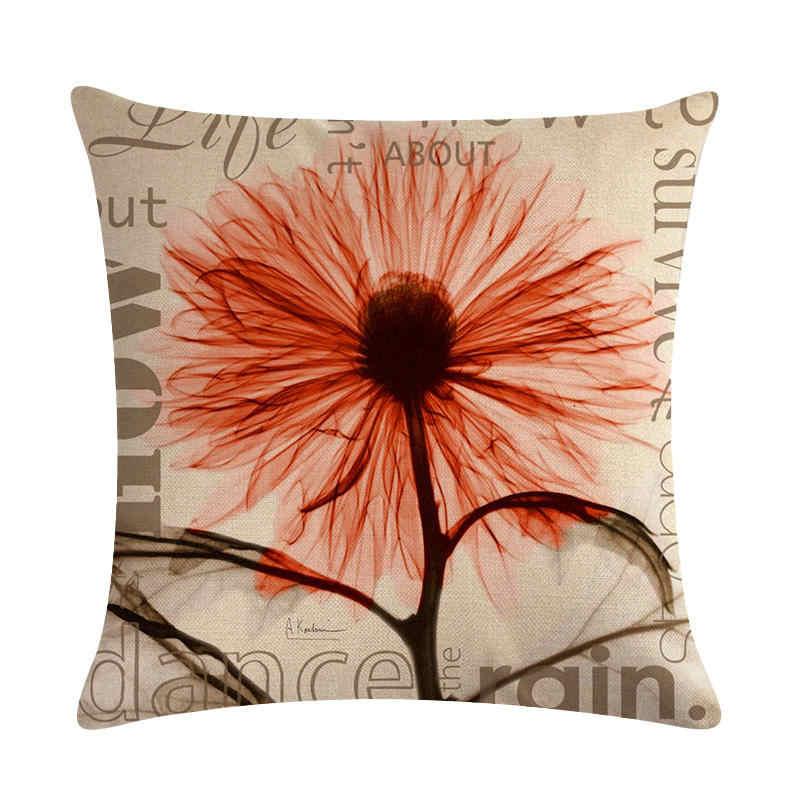 45 cm * 45 cm Antiken transparent blumen design leinen/baumwolle dekokissen covers couch kissenbezug home dekorative kissen