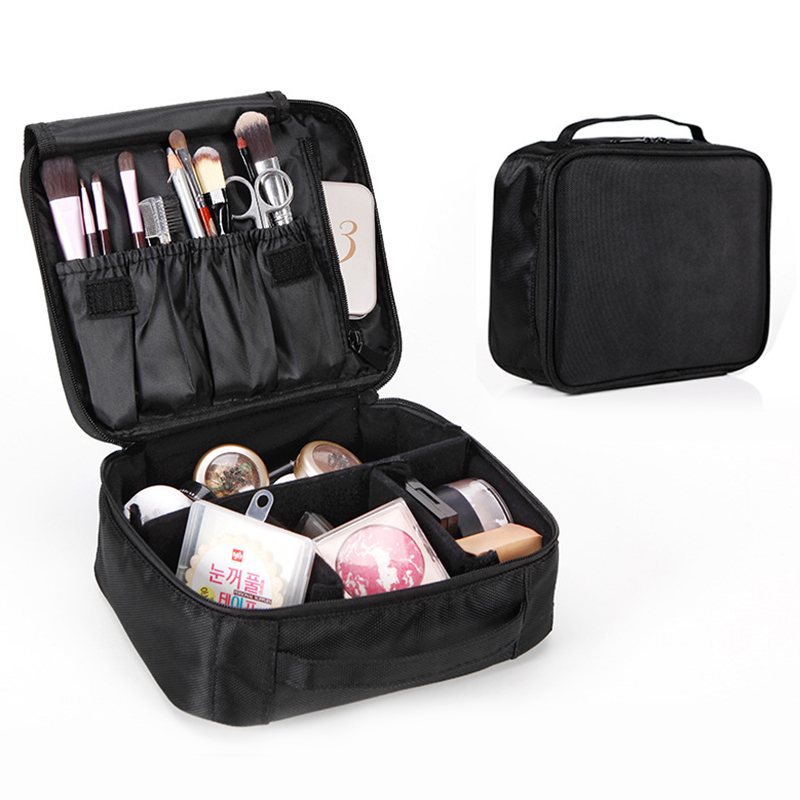 Women Makeup Bag Professional Portable Travel Cosmetic Case Organizer Divider For Cosmetics Make Up Brushes Toiletry Storage Box