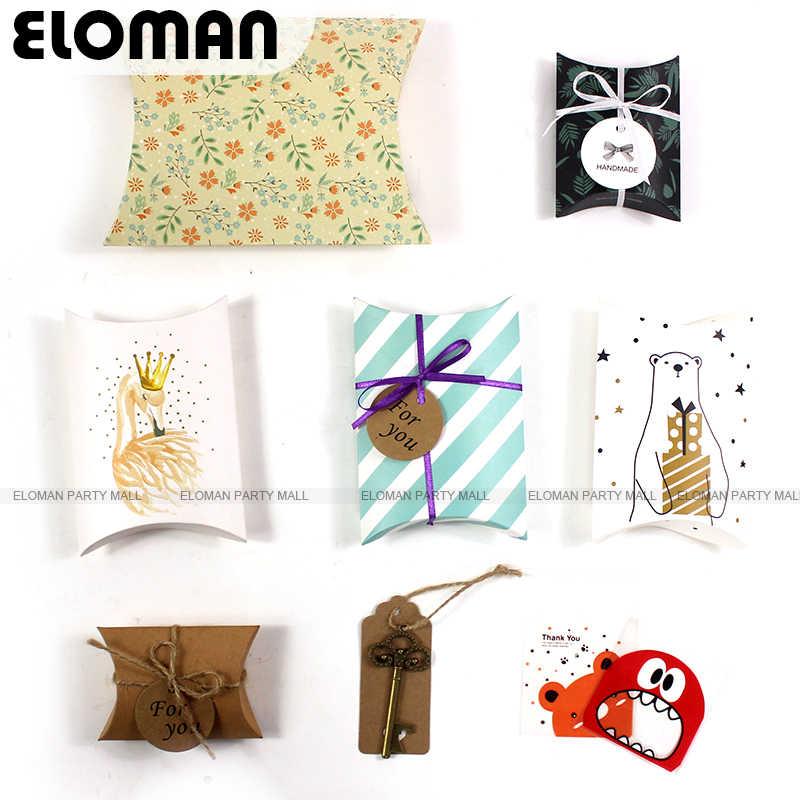Flamingo kissen box für schokolade süßigkeiten cookie weihnachten hochzeit party baby dusche große papier favor geschenk kissen verpackung boxen
