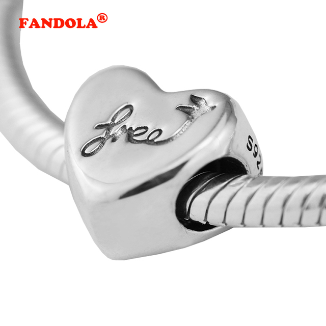 d5741fe8a ... greece fits pandora bracelet heart of freedom charms 100 original 925  sterling silver diy beads for