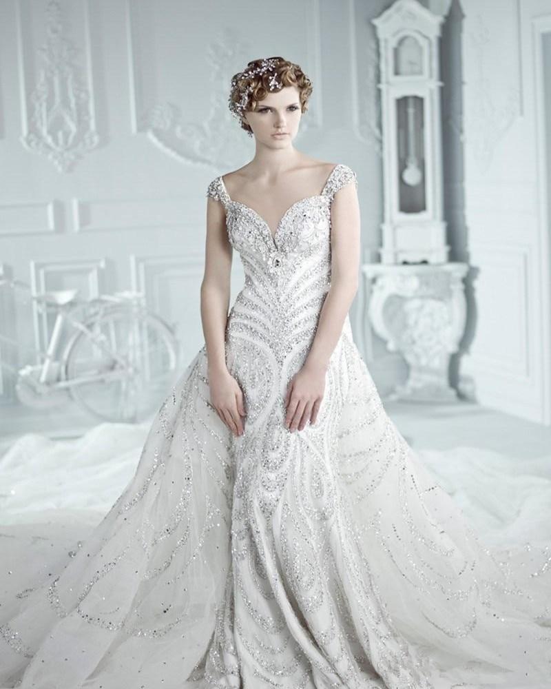 Wedding Gowns With Swarovski Crystals: 2016 Luxurious Wedding Dresses Michael Cinco Swarovski