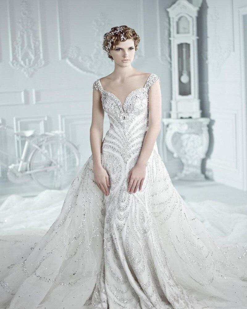 achetez en gros swarovski de mariage robe en ligne des