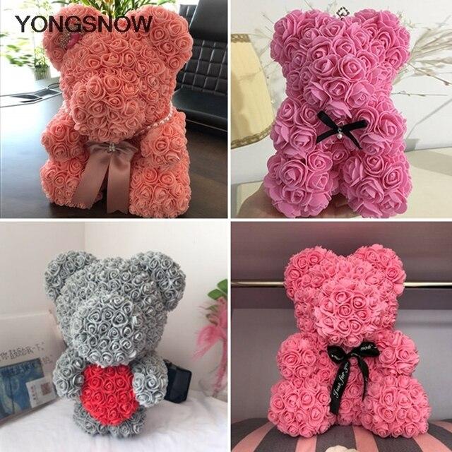 Rose Bear Flower Bear Foam Bear Mold Artificial Rose Flower Mold Modeling Polystyrene Styrofoam Bear Mother's Day Flower Gift 3
