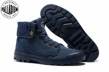 PALLADIUM Pallabrouse Blue jeans Sneakers Turn help Men Military Ankle Boots Canvas Casual Shoes Men Casual Shoes Eur Size 39 45