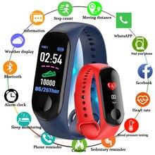 Kivbwy Bluetooth спортивный Смарт Браслет для измерения кровяного давления пульсометр Водонепроницаемый Фитнес M3 смарт Браслет фитнес трекер Шагомер
