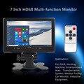 7 pulgadas TFT LCD Opinión Posterior Del Coche Del Monitor de Color Brillante Interfaz HDMI AV VGA Auto Aparcamiento Retrovisor Del Coche Monitor Inversa asistencia