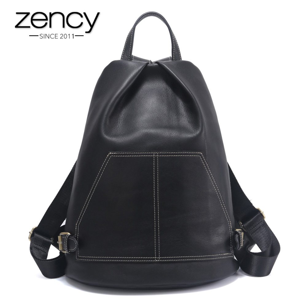 Zency Fashion Casual Travel Bags Women Genuine Leather Backpack Preppy Style Schoolbag Lady Knapsack Large Capacity Big Bag стоимость