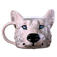A Personalized Hot 3D Wolf Mug Ceramic Milk Coffee Tea Mug Custom Birthday Christmas Gifts X531