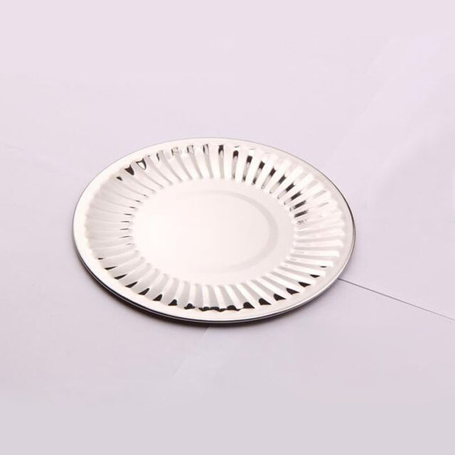 100pcs/lot 14cm Stainless Steel Reusable Cake Dish Round Candy Fruits Desserts Plate for Wedding  sc 1 st  AliExpress.com & 100pcs/lot 14cm Stainless Steel Reusable Cake Dish Round Candy ...
