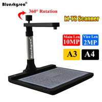 L1 TS High Speed HD 10MP Dual Cameras USB Book File A3 Document Scanner For 3D Object CMOS Camera USB Scanner Visual Presenter