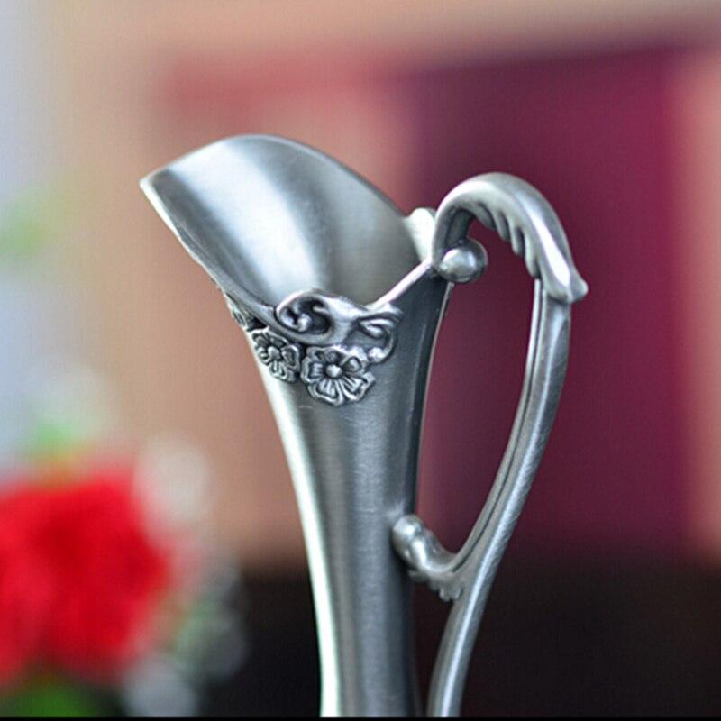 Selling Pewter Plated Metal Flower Vase 2