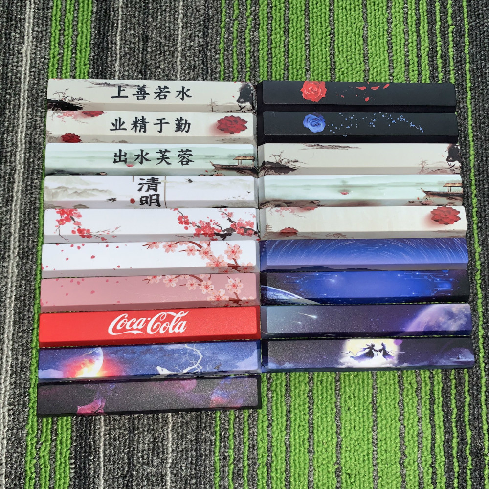 1 Piece PBT 5 Faces Dye Sublimation Mechanical Keyboard Space Key Cap 6.25X Cherry Profile Spacebar Keycap
